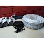 Комплект видеонаблюдения 4 камеры AHD +доступ в интернет