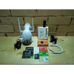 Комплект видеонаблюдения 1 камера IP, WIFI, SD