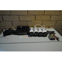 Комплект видеонаблюдения 4 камеры AHD, 1080p, 2мп, улица