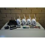 Комплект видеонаблюдения на 4 камеры IP, 1080P, PTZ, улица