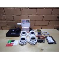 Комплект видеонаблюдения 4 камеры AHD, 720p, помещение