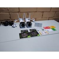 Комплект онлайн видеонаблюдения 2 камеры 5мп, WIFI, SD, звук