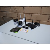 Комплект онлайн видеонаблюдения 5мп, WIFI, SD, звук, WIFI роутер