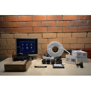 Комплект видеонаблюдения на 3 камеры AHD