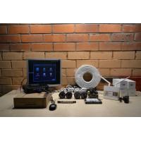 Комплект видеонаблюдения на 4 камеры AHD +доступ в интернет