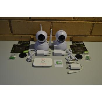 Комплект видеонаблюдения 2 камераы, помещение