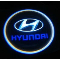 Беспроводная подсветка дверей с логотипом Hyundai