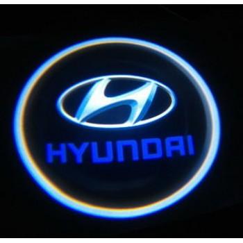 подсветка дверей с логотипом