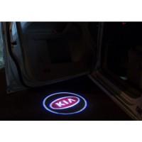 Беспроводная подсветка дверей с логотипом KIA