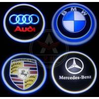 Беспроводная подсветка дверей с логотипом авто