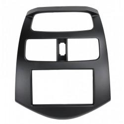Переходная рамка для Chevrolet Spark, Daewoo Matiz 2011 - 2 din черная