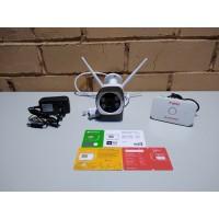 Комплект онлайн видеонаблюдения 1080p, WIFI, SD