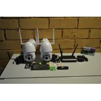 Комплект видеонаблюдения 2 камеры IP,WIFI,PTZ, SD