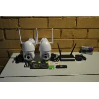 Комплект видеонаблюдения 2 камеры,1080p, IP,WIFI,PTZ, SD