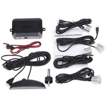 Парктроник светло-серые(серебристые) датчики