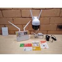 Комплект видеонаблюдения 1 камера 1080p, PTZ, WIFI, SD